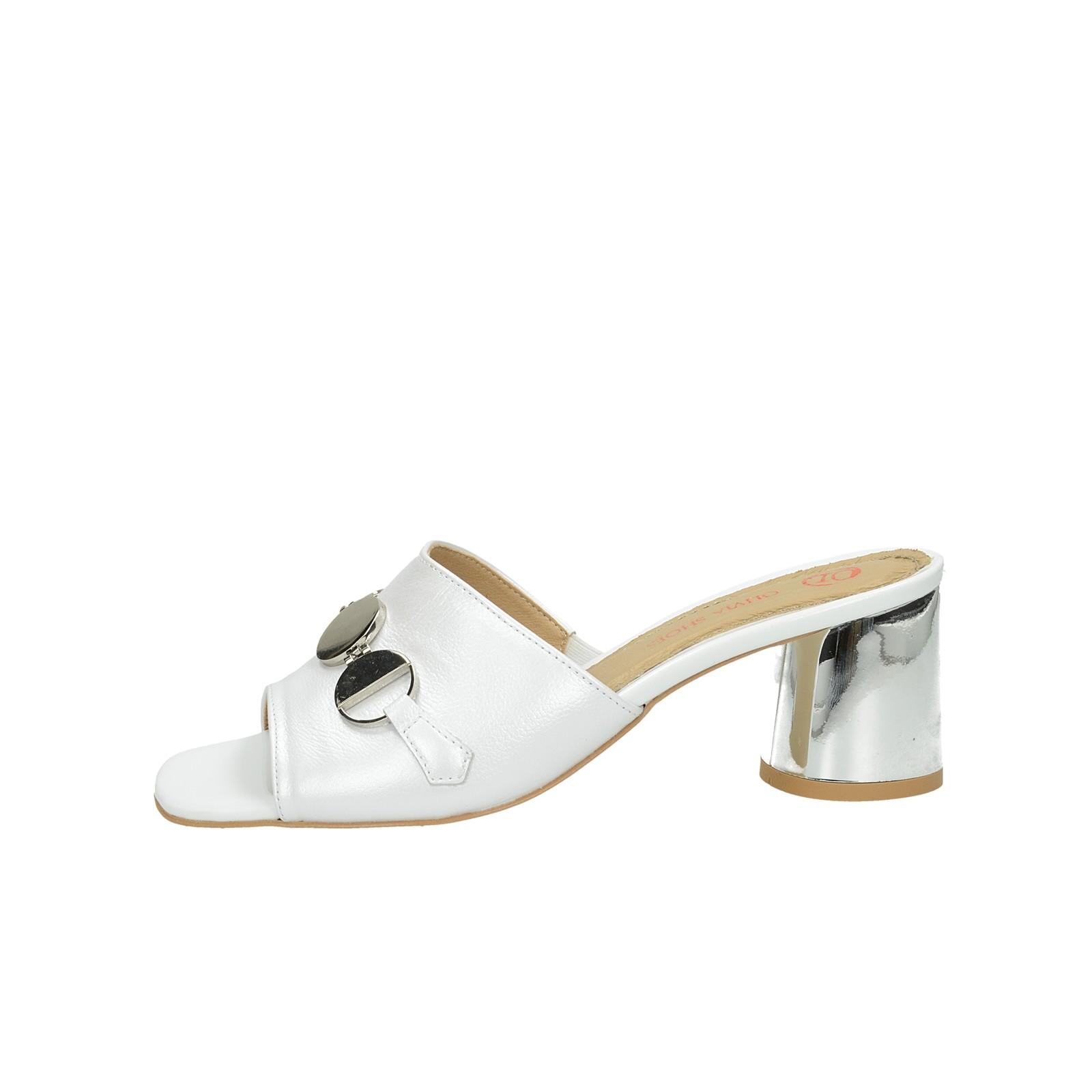 Olivia shoes dámske štýlové šľapky - biele