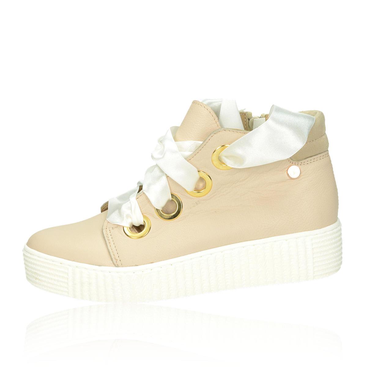 e92b28cc17bd ... Olivia shoes dámske štýlové tenisky na platforme - béžové ...