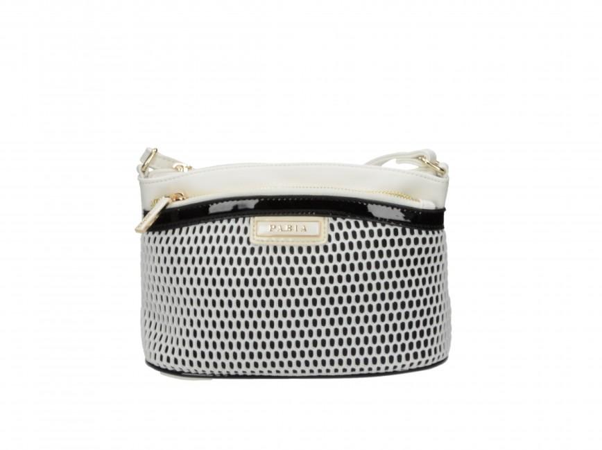 Pabia dámska štýlová kabelka - čiernobiela ... acb2f001232