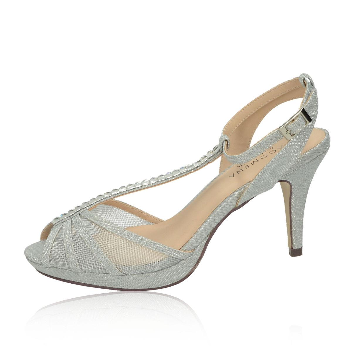 70a20ff05c2a Pacomena dámske sandále - strieborné Pacomena dámske sandále - strieborné  ...