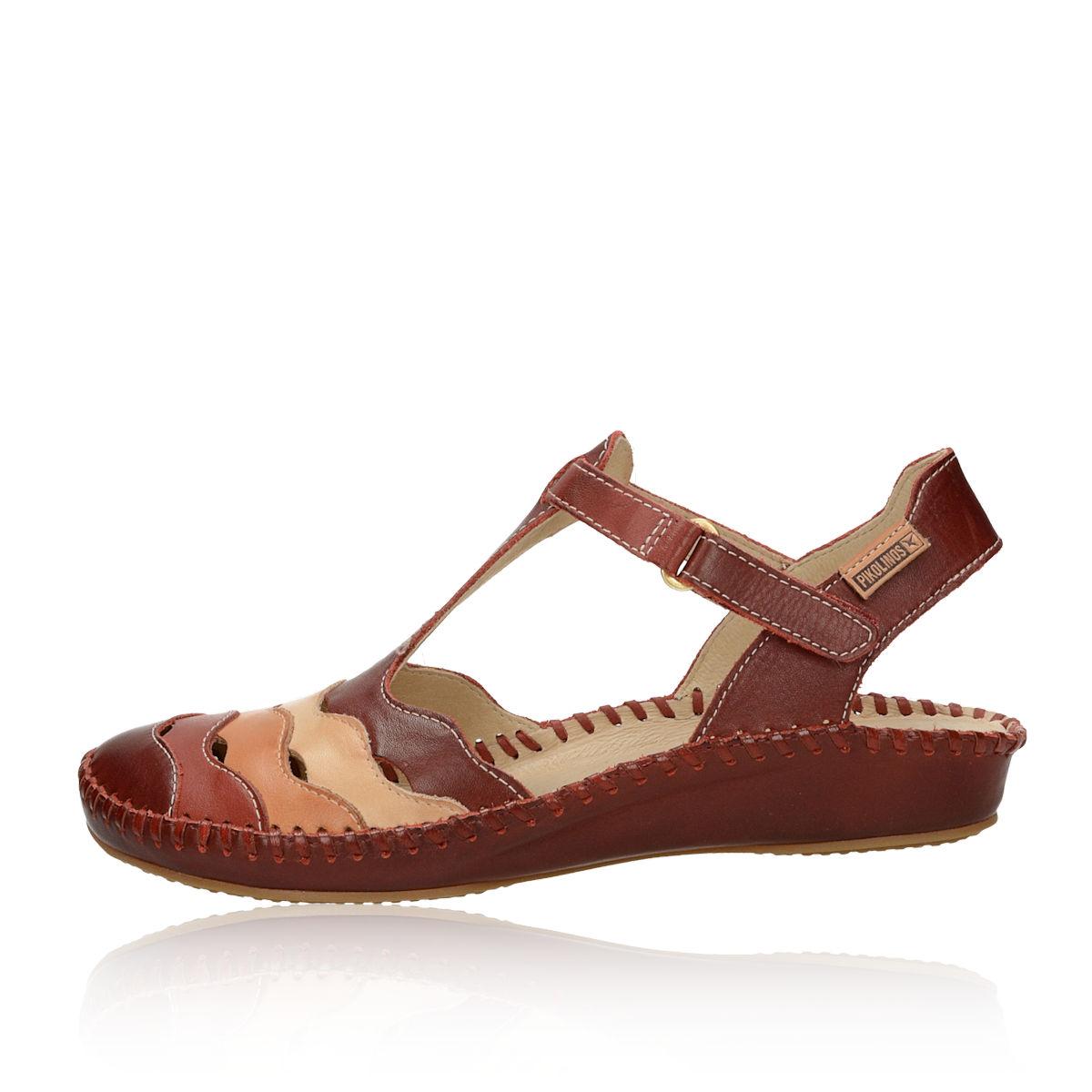 ddfea1af9484 ... Pikolinos dámske kožené pohodlné sandále - bordové ...