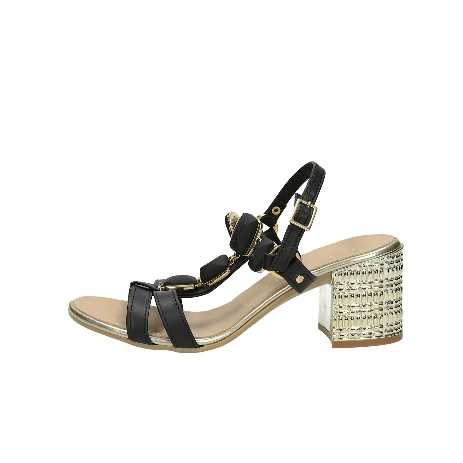 9a546218847e7 Prativerdi dámske kožené elegantné sandále - čierne Prativerdi dámske  kožené elegantné sandále - čierne ...