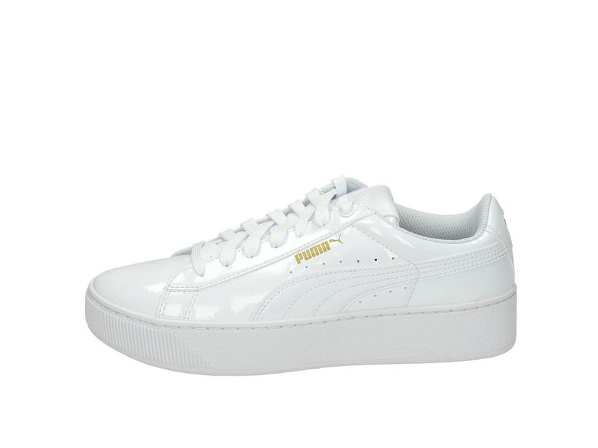 324e8844700e ... Puma dámske štýlové lakované tenisky - biele ...
