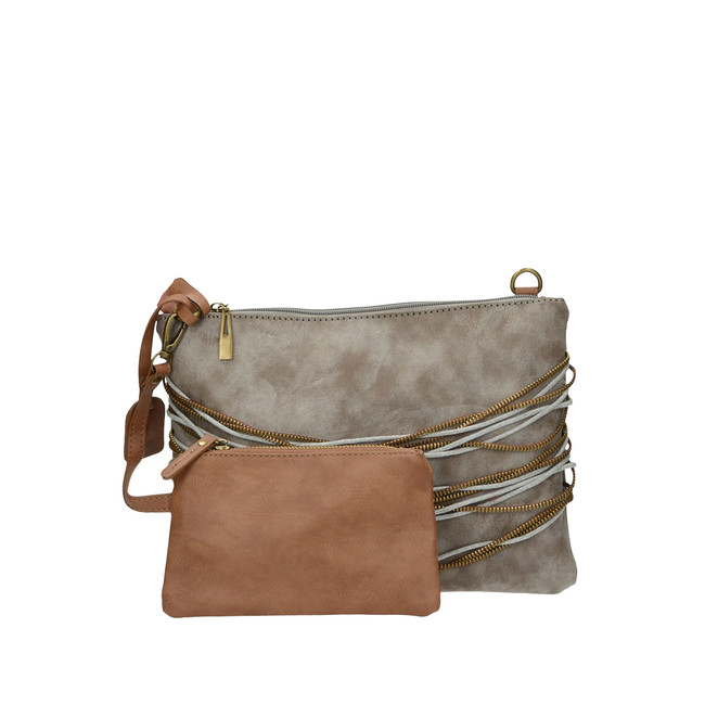 ... Remonte dámska štýlová kabelka s ozdobnými prvkami - šedá ... 54fdebdf7a8