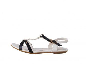 Big Star dámske bielo-čierne sandále
