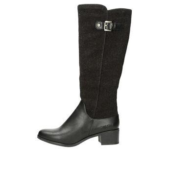 Big star dámske štýlové čižmy s ozdobným remienkom - čierne