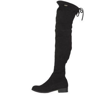 Big star dámske zimné čižmy so zipsom - čierne