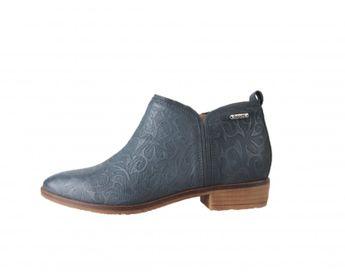 Bugatti dámske modré kožené členkové topánky