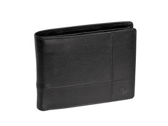 Bugatti pánska čierna kožená peňaženka