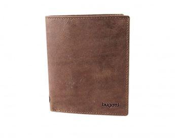 Bugatti pánska hnedá kožená peňaženka
