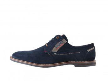 Bugatti pánska semišová obuv - modrá