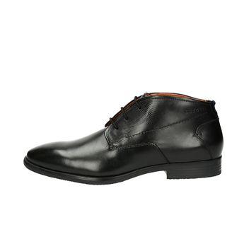 Bugatti pánska kožená členková obuv - čierna
