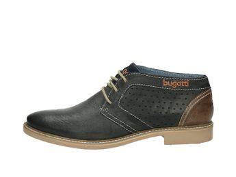 Bugatti pánska kožená členková obuv - modrá