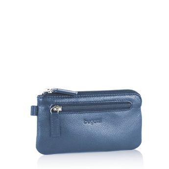 Bugatti pánska kožená kľúčenka - modrá
