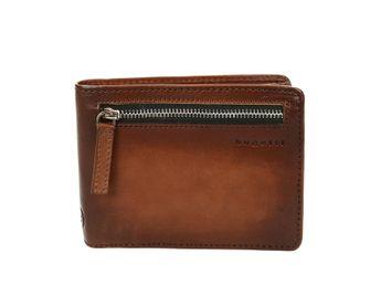Bugatti pánska kožená peňaženka so zipsom - koňaková