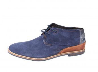 Bugatti pánska modrá semišová jarná obuv