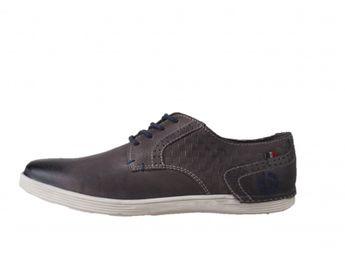 Bugatti pánske kožené topánky - šedé