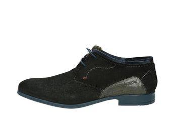 Bugatti pánske semišové kotníky - čierne