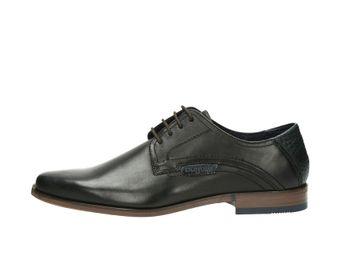 Bugatti pánske topánky s koženou podošvou - čierne