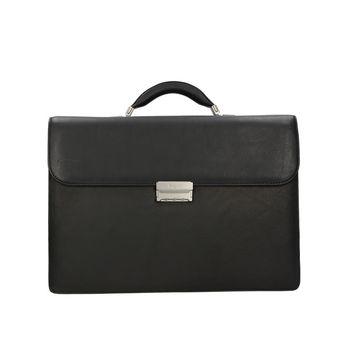 Bugatti pánsky kožený kufrík - čierny