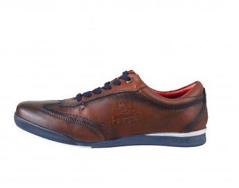 Bugatti pánske kožené sneakery - hnedé