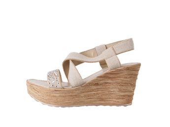 Cerutti dámske béžové sandále na platforme