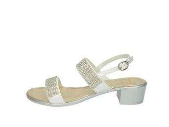 Cerutti dámske biele elegántne sandále s malými trblietkami