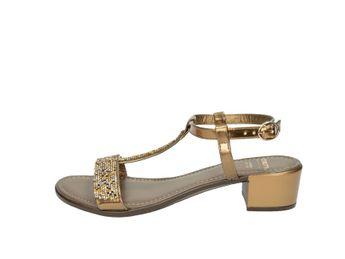 Cerutti dámske bronzovo hnedé elegántne pohodlné sandále s trblietkami