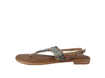 Cerutti dámske hnedé sandále s farebnými kamienkami