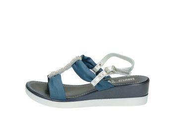 Cerutti dámske modré štýlové sandále s malými trblietkami