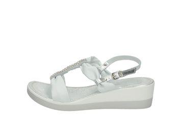 Cerutti dámske strieborno biele kožené pohodlné sandále s malými trblietkami