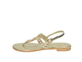 Cerutti dámske zlaté elegántne sandále s trblietavými motýľmi