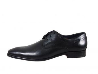 Daniel Hechter čierne pánske spoločenské kožené topánky