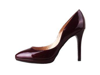 Classico & Bellezza dámske bordové kožené lodičky