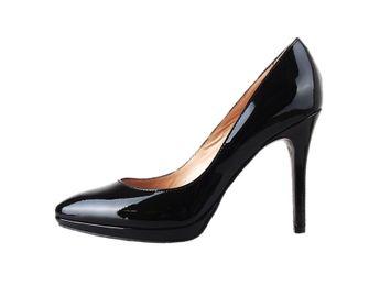 Classico & Bellezza dámske čierne lodičky na výššom podpätku