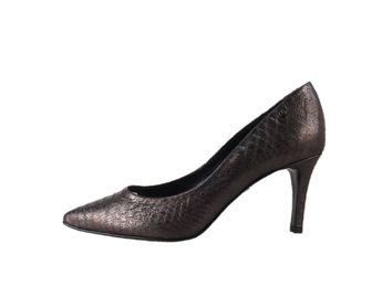 Classico & Bellezza dámske šedé kožené lodičky