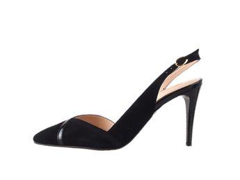 Classico & Bellezza dámske čierne sandále