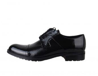 Conhpol pánske čierne extravagantné spoločenské topánky
