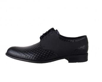 Conhpol pánske čierne kožené spoločenské topánky