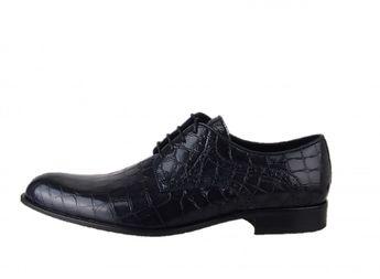 Conhpol pánske čierne módne spoločenské topánky