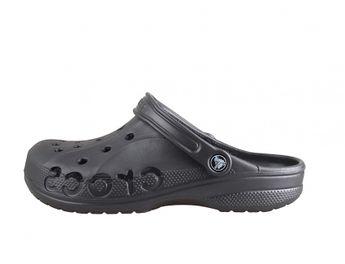 Crocs pánske šedé šľapky s nápisom Crocs