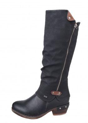 Rieker dámske zimné čižmy - čierne
