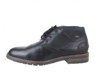 Daniel Hechter pánska čierna zateplená členková obuv