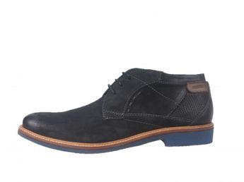 Daniel Hechter pánske kožené topánky - čierne