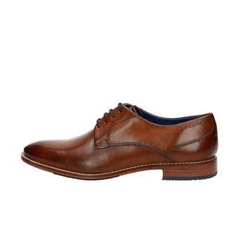 Daniel Hechter pánske kožené spoločenské topánky - koňakové