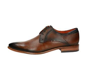 Daniel Hechter pánske luxusné spoločenské topánky - koňakové