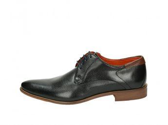 Daniel Hechter pánske spoločenské topánky - čierne