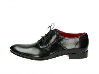 Faber pánske čierne kožené topánky