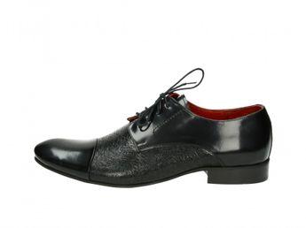 Faber pánske čierne lesklé spoločenské topánky