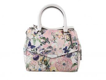 Fiorelli dámska biela kabelka s kvetinovou potlačou
